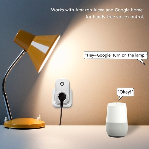 Tuya Smart Life Wifi Socket Israel Type 16A Plug App Remot Control Voice Control with Google Home Alexa Echo Timer the Devices