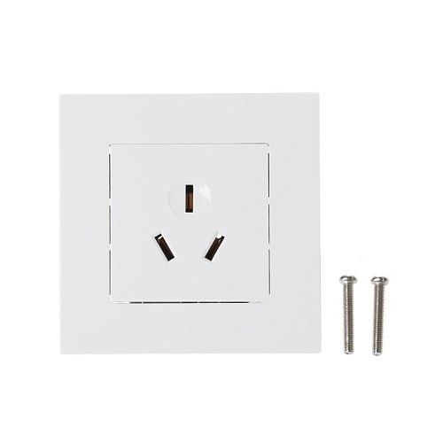 Wall Socket 86 Type 16A Power Outlet With 3 Holes White PC Panel For Air Conditioner Water Heater-