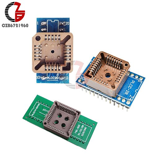 PLCC20 to DIP20 PLCC28 to DIP24 PLCC40 to DIP44 EZ Programmer Adapter Socket IC Test Socket Universal Converter