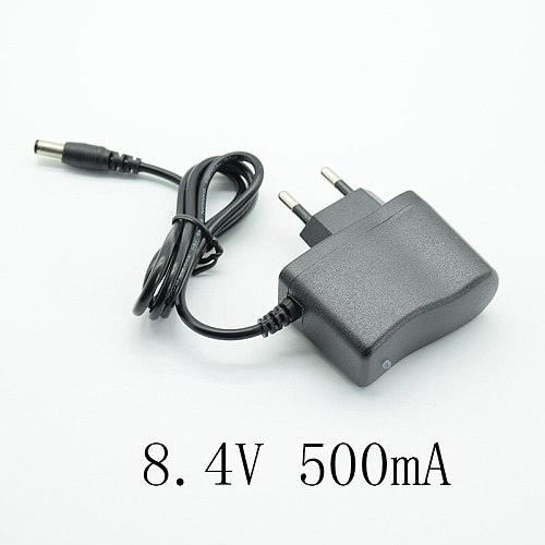 Converter Adapter DC 4.2V 8.4V 12.6V 500mA/0.5A Power Supply Charger EU Plug 5.5mm * 2.5mm(2.1mm) AC to DC 18650 lithium battery