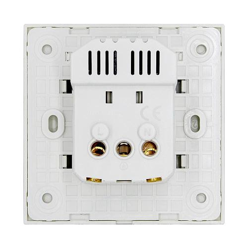 BSEED EU Standard Wall Socket With Double USB Wall Decorative Socket Dual  Black Golden White Glass Panel