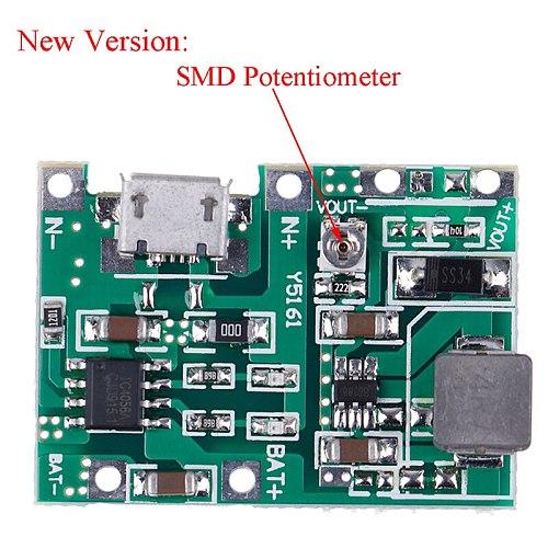 1pcs USB Lithium Li-ion 18650 Battery 3.7V 4.2V To 5V 9V 12V 24V Step Up Module