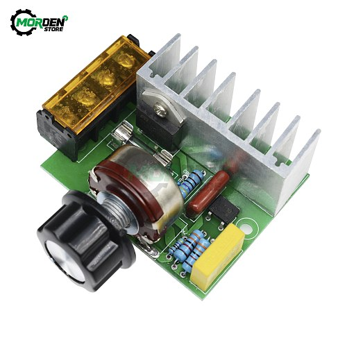 4000W Voltage Regulator 0-220V AC SCR Electric Adjustable Motor Speed Control Dimmers Dimming Speed With Temperature Insurance