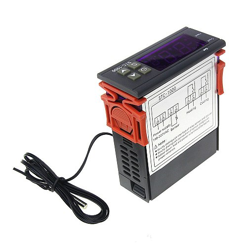 STC-1000 dual relay output LED digital temperature controller thermostat cooling heating temperature