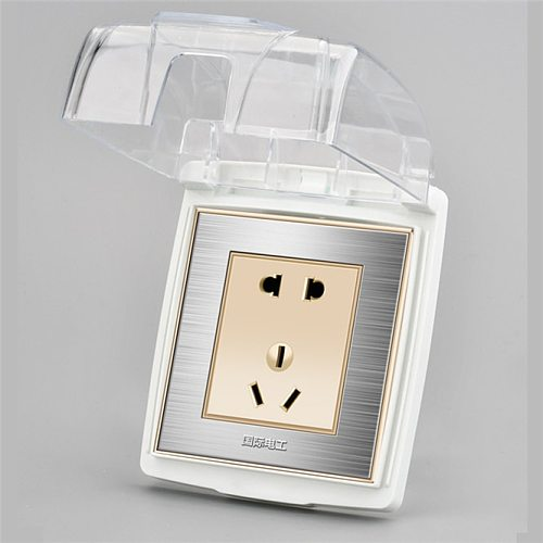 Transparent Panel Wall Power Socket with Waterproof Cover 86 Type Universal Wall Socket Plate Panel Switch Box Cover Protector