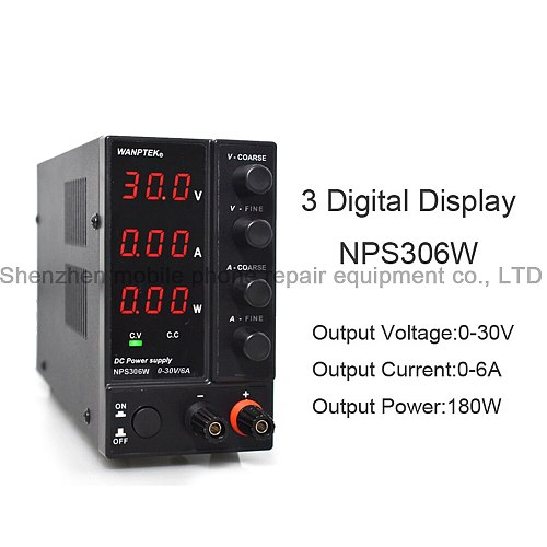 NPS306W 30V6A Mini Adjustable Laboratory DC Power Supply LED Digital Switching Voltage Regulator Stabilizers For Laptop Repair