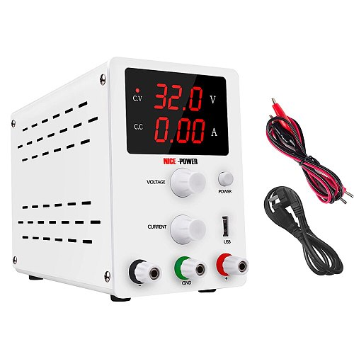 New Arrival Digital Bench Regulated Switching DC USB Power Supply 30V 10A Adjustable Laboratory Bench Power Source Regulator