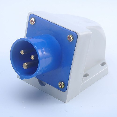 Blue 240V 16 AMP 3 Pin Industrial Electricity Plug Sockets IP44 2P+E Male/Female Industry Electrical Socket adapter