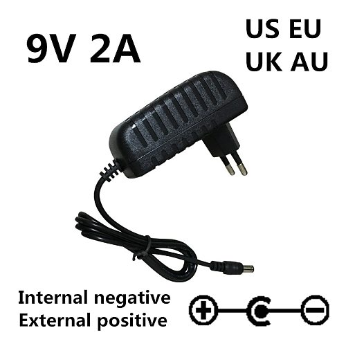 1pcs 9V 2A Replacement AC DC Adapter Charger for Roland PSB-1U Drum Piano Keyboard Adapter Po Power Supply