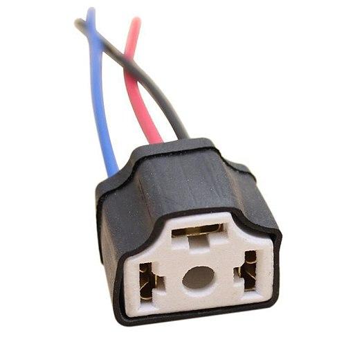 1Pc H4 9003 Ceramic Wire Wiring Car Head Light Bulb Lamp Harness Socket Plug Super Heat Resistant