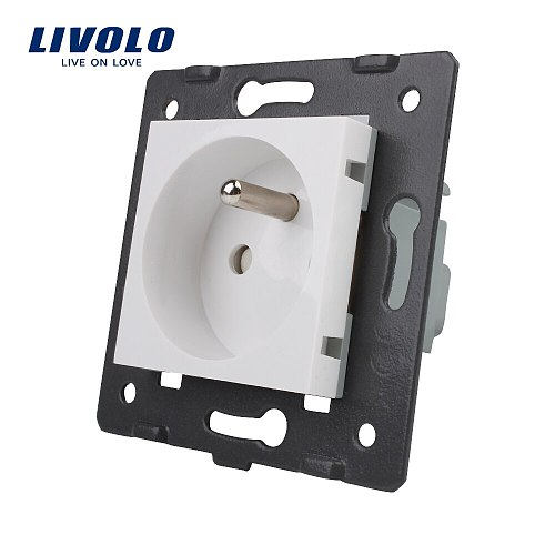 LIVOLO Manufacturer, Livolo White  Plastic Materials,  FR standard, Function Key For French Socket,VL-C7-C1FR-11 (3Colors)