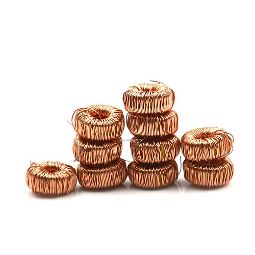 10 Pcs 470UH 3A Toroidal Inductor For LM2596 Toroid Core Inductor Magnetic Inductance Wire Wound Coil Inductor