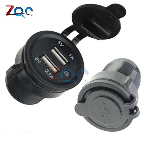 Splitter Dual USB Port Cigarette Lighter Socket Car Charger Power Adaptor 12-24V Power supply Adapter