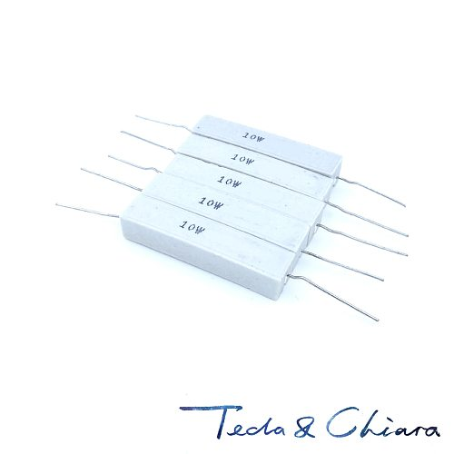 10Pcs 10W 27R 30R 33R 39R 27ohm 30ohm 33ohm 39ohm 27 30 33 39 5% Cement Ceramic Power Horizontal Resistor Resistance R Ohm