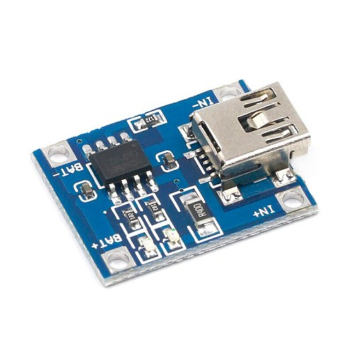 10pcs Mini USB 5V 1A 18650 TP4056 Lithium Battery Charger Module Charging Board With Protection Dual Functions 1A Li-ion