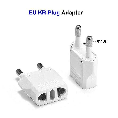 5pcs US To EU Kr Plug Socket Universal Male To Female European Eu Plug Socket Power Outlet Euro Electric Socket