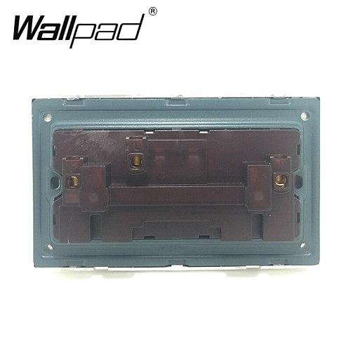 146 Double 13A UK Switched Socket Wallpad Crystal Glass Panel 110V-250V 146*86mm UK Standard Wall Socket Plug Power Outlet