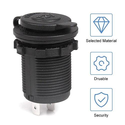 Waterproof Car Motorcycle Motorbike Cigarette Lighter Power Supply Socket Plug Outlet Power Adapter Fit For 12-24V