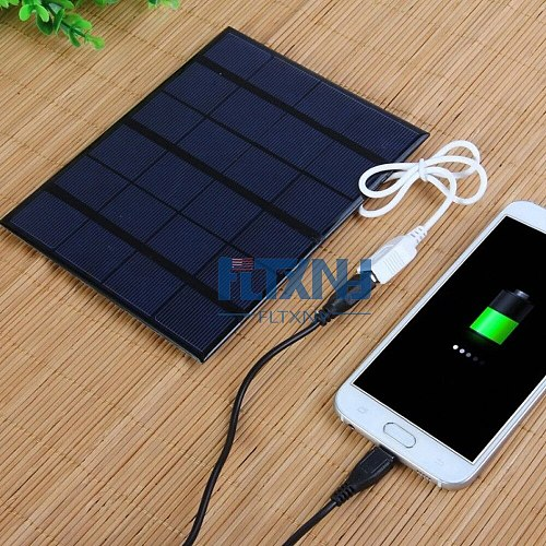 USB Solar Panel Outdoor 3.5W 6V Portable Solar Charger Pane Climbing Fast Charger Polysilicon Tablet Solar Travel