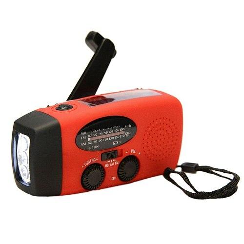 AM FM WB Solar Hand Crank Radio 3 LED Flashlight Emergency Solar Hand Crank Powerful Electric Torch Dynamo Bright Lighting Lamp