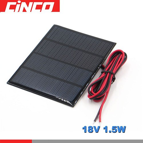 Poly Panel Solar monocrystalline Silicon 18V 1.5W with 100cm extend cable DIY 12V Battery Charger Module Solar Cell wire toy