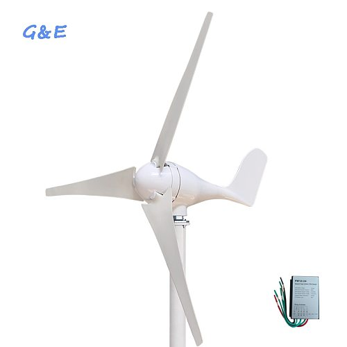 Free shipping 12V or 24VDC 3 Or 5 blades 400W Wind Turbine Generator With Waterproof Wind Controller
