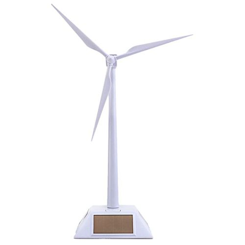 2 in 1 Solar Wind Turbine Generator Model and Exhibition Stand Windmill Educational Assembly Kit Desktop Decoratio