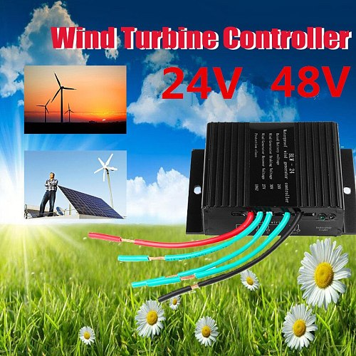 High Efficiency 24/48V Solar Wind Turbines Generator Charge Controller Auto Reset Waterproof IP67 Overload Protection