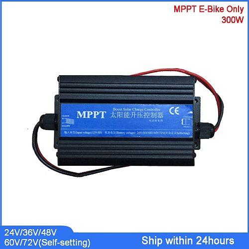 E-Bike Use Solar Boost Charge Controller for 24V/36V/48V/60V/72V Battery/MPPT Type Solar Regulator/Solar Power Bike Controller