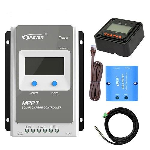 EPEVER MPPT Solar 12V 24V controller battery charger solar power bank Tracer3210AN 4210AN 2210AN 1210AN Temp sensor wifi BOX