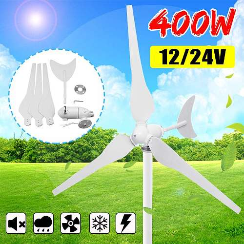 12V/24V Wind Turbines Generator 400W 3 Blades Horizontal Wind Generator With Controller Windmill Energy Turbines Charge