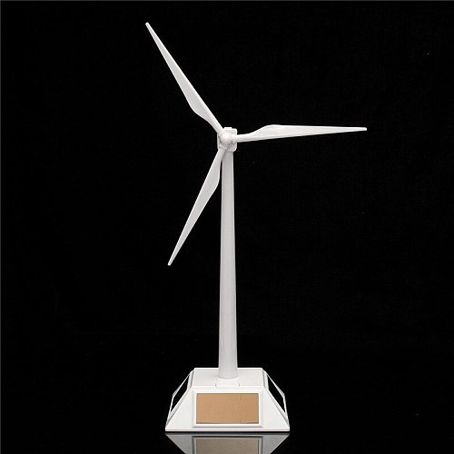 2 in 1 Solar Wind Generator Model and Exhibition Stand Windmill Educational Assembly Kit Desktop Decoration
