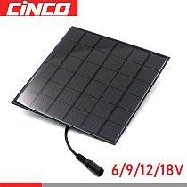 18V 12V 9V 6V DC 5.5*2.1 Solar Panel Output Battery Charger Voltage Regulator Charge Motor Micro Pump Lipo Batteries 2/3/5/7/9W