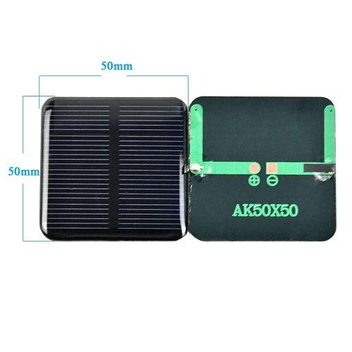 SUMYIMA 10pcs Epoxy Solar Panels 2V 160MA Solar Cells Solar 50*50mm Polycrystalline Silicon Battery Charger DIY