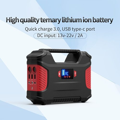 155Wh smart light energy storage station solar battery power bank for outdoor camping emergency convenient use power companion