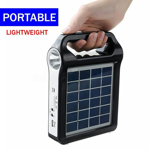 Built In Lighting Economical Portable Solar Panel Generator System USB Port Lamp ds99