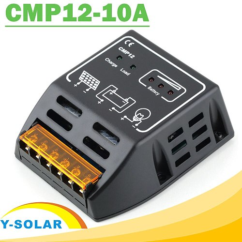 Solar Charge Regulator 10A 24V Voltage settable High Quality CMP 12 Solar Battery Protection PWM Charge Mode Solar Controller