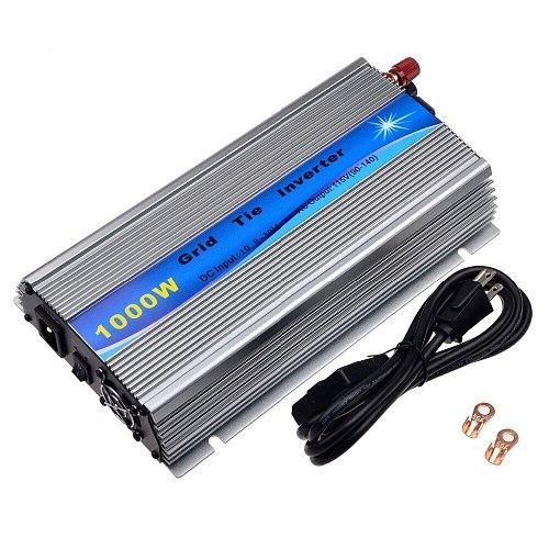 1000W Grid Tie Inverter Stackable MPPT Pure Sine Wave DC20-45V Solar Input AC90-260V  Output for 30V 36V PV Panel