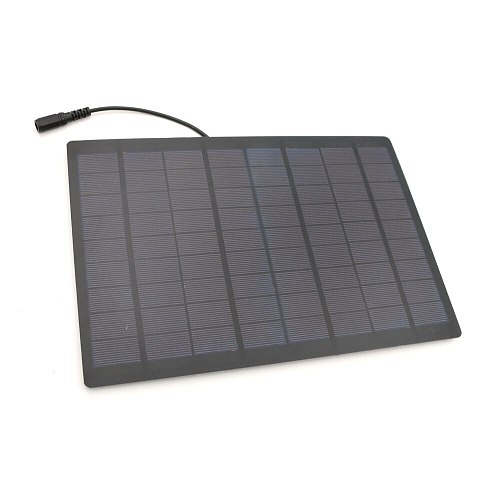 500mA 9W 18V Solar panel with 5.5*2.1 DC Connector 30cm Cable Charge cell phones Epoxy DIY Battery Module Mini Solar Cell