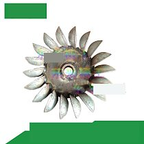 Dual-use 8-word Blade 1.5 KW Hydroelectric Generator Impeller Assembly Water-powered Power Accessories Water Leaf