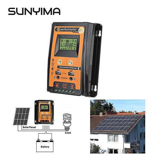 SUNYIMA 12V 24V 50A 30A Soalr Charge Controller MPPT Solar Controller Solar Panel Battery Regulator Dual USB LCD Display