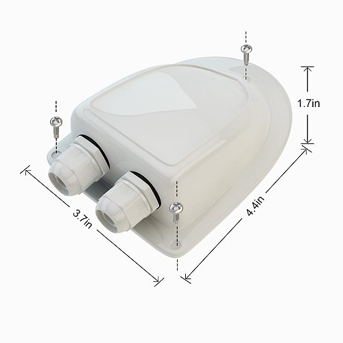 RV ABS Solar Double Cable Entry Gland Box Waterproof Fits Solar Project on RV Camper Van Travel Trailer Boat Cabin