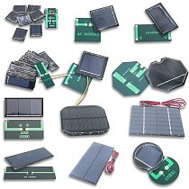 4V 5.5V 5V 6V 7V 10V 12V Mono/polycrystalline solar panel battery module Epoxy board PET power generation board model