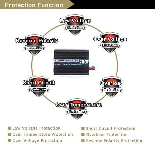 12000W Peaks Inverter 12V 220V USB Modified Sine Waves Powers Inverter Voltage Convertor Transformer 6000/5000/4000/3000W