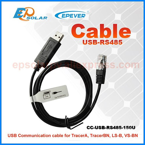 CC-USB-RS485-150U USB communicate cable Temp sensor MT50 remote meter eBox-WIF-01 for EPEVER solar controller AN BN LS-B series