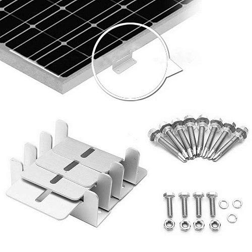 4pcs Z Style Solar Panel Brackets Durable Solar Panel Mounting Brackets Sets