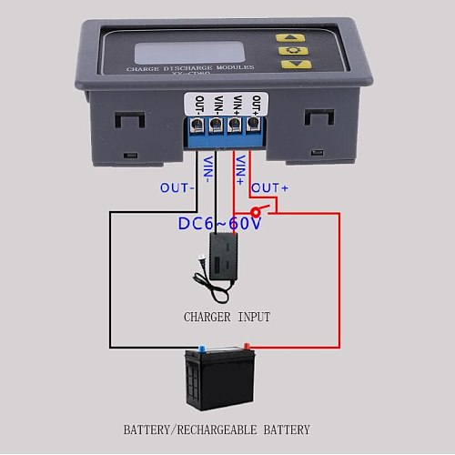 XY-CD60 Solar Battery Charger Controller Module DC6-60V Charging Discharge Control Low Voltage Current Protection Board