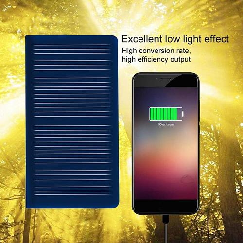 New 5.5v 50ma Round Black Mini Solar Panel 68*38mm Camping Board Diy Portable Glue Silicon Tool Outdoor Charging Polycrysta M8J6