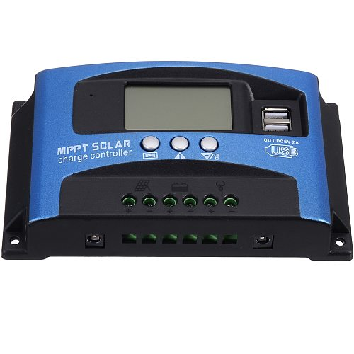 High Quality 30A MPPT Solar Panel Regulator Charge Controller 12V/24V Dual USB LCD Display Automatic Focus Tracking