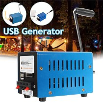 High Power Charger Portable Emergency Hand Power Hand Crank USB Charging Emergency Survival Blue Hand Crank Generator